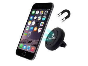 Car Phone Holder, Beepels MegTec Universal Air Vent Magnetic Car Mount Phone Holder, for Cell Phones Mini Tablets including iPhone 6, 6S Plus, Galaxy S7, S6 Edge, Car Cellphone Holder