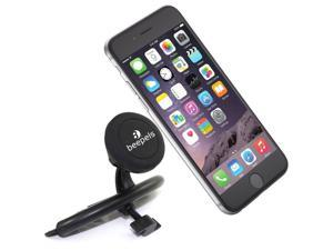 CD Slot Mount, Beepels Universal Magnetic CD Slot Car Mount Phone Holder, for Cell Phones and Mini Tablets including iPhone 6, 6S Plus, Galaxy S7, S6 Edge, - Quick Install