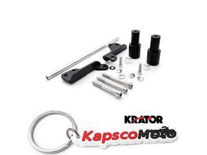 Krator No Cut Frame Sliders Motorcycle Fairing Protectors For 2000-2001 Honda CBR 929RR