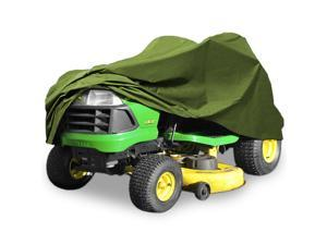 """Superior Riding Lawn Mower Tractor Cover Fits Decks up to 54"""" - Green - 300D Polyester Oxford PU Coated Water and UV Resistant Storage Cover"""