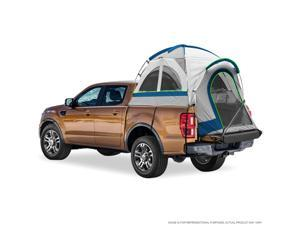 """Pickup Truck Bed Camping Tent, 2-Person Sleeping Capacity, Includes Rainfly and Storage Bag - Fits Compact Truck with Regular Bed - 72""""-73"""" (6'-6'1"""") - Gray and Blue"""