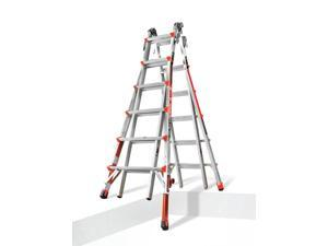 Little Giant 12026-801 Revolution Type 1A 300-lb Duty Rating Multi-Use Ladder, Model 26 with Ratchet Levelers