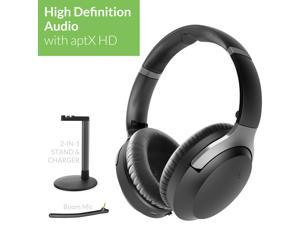 Avantree Aria Podio aptX-HD Bluetooth 5.0 Active Noise Cancelling Headphones   Wireless Over Ear Headset with Boom Microphone for PC Computer Conference Phone Calls   Low Latency for TV