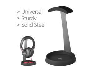 Avantree Solid Steel Headphone Stand Holder Hanger, Sturdy with Space for Cable, Great for Sennheiser, Sony, Audio-Technica, Bose, Shure, AKG, Panasonic Headphones and More - HS102