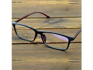 Men Fashion black and red TR90 Light Weight Flexible Rectangle Eyeglasses Reading Glasses +0.75 TO +4