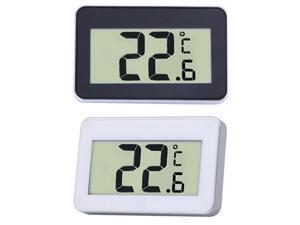 Mini LCD Digital Thermometer Temperature Meter Indoor Electronic Temperature Meter W/Magnet Hook for Refrigerator