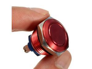 16mm Start Horn Button Momentary Stainless Steel Metal Push Button Switch Red Best Price