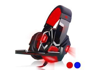 Stereo Gaming Headset Virtual Surround Stereo Bass Gaming Earphone Headphone with Mic LED Light USB 3.5mm for Computer PC Gamer