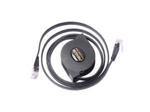 2018 New Arrival 2M Adjustable Retractable Scalable Network Extension Portable Cable Broadband Computer PC Black