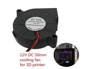 2018 HOT LYF 12V DC 50mm Blow Radial Cooling Fan Hotend / Extruder For RepRap 3D Printer for Radiator Mod Mod fan Cooler