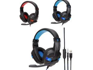 Wired USB  LED 3.5mm Gaming Headset 30mW Approx.4.2m Cable Length Headphones with Mic for PS4/XBOX /ONE Dropshipping