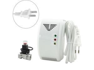 220V Propane Butane LPG Natural Motorhome For Home Alarm System Security EU Plug Gas Detector Sensor Alarm