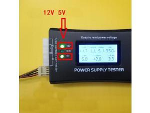 Sensitive Digital LCD Display PC Computer 20/24 Pin Power Supply Tester Checker Power Measuring Diagnostic Tester Tools