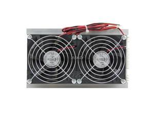 200 x 115 x 8.5mm 120W Thermoelectric Peltier Refrigeration Semiconductor Cooling System Kit Double Fan Z09 Drop ship