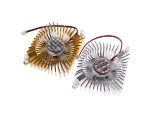DC 12V 80mm Video Graphics VGA Radiator Cards Cooling Fan 2Pins Mounting Hole Fan For PC July Drop ship