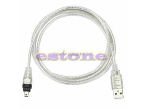 5ft 1.4m USB To Firewire iEEE 1394 4 Pin For iLink Adapter Cable Z17 Drop Ship