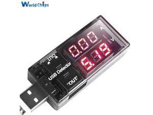 USB Charger Doctor Current Voltage Charging Detector Battery Voltmeter Ammeter Red display