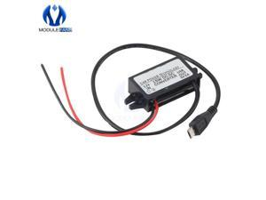 DC-DC Car Power 12V to 5V 3A 15W Converter Module Micro USB Step Down Power Output Adapter High Conversion Efficiency