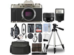 Fujifilm XT200 Mirrorless Digital Camera 15-45mm Lens Champagne Gold 32GB Bundle