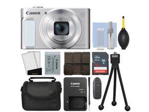 Canon PowerShot SX620 HS 20.2MP Digital Camera Silver / White + 16GB Kit