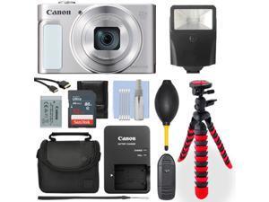 Canon PowerShot SX620 Digital Camera Silver/ White+ 32GB Deluxe Accessory Packag