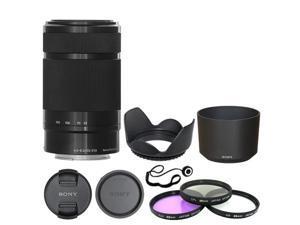 Sony E 55-210mm F4.5-6.3 Lens for Sony E-Mount Black + Deluxe Accessory Kit