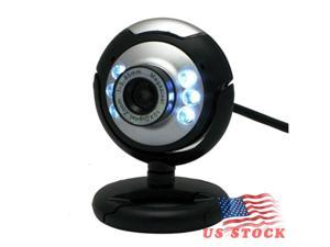 HD 12.0 MP 6 LED USB Webcam Camera with Mic & Night Vision for Desktop PC