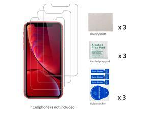 3PCS Tempered Glass Film for Apple iPhone 11 Screen Protector and iPhone XR Screen Protector 6.1""