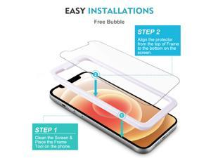Tempered Glass Film for Apple iPhone 12 Screen Protector and iPhone 12 pro Screen Protector, with (Easy Installation Tray) Anti Scratch, Bubble Fre, Apple iPhone 12 / 12Pro / 6.1inch