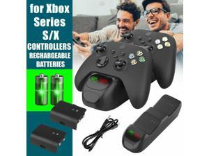 For Xbox Series S/X Charging Dock Station Controller Stand+2Rechargeable Battery