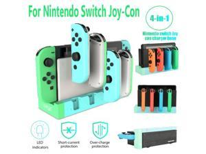 For Nintendo Switch Joy-Con Charging Dock 4Port Pro Controller LED Charger Stand