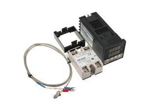 Digital 110-240V PID REX-C100 Temperature Controller + 40A SSR + K Thermocouple