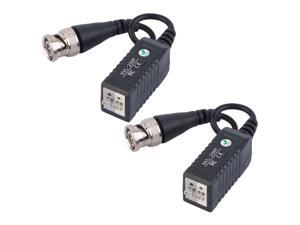 1 Pair HD CCTV Via Twisted Video Balun Transmitter For CCTV Camera DVR For CVI/TVI/AHD 0-300m Black