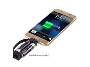 Portable Mobile Phone Charger Magnetic Micro USB Emergency Charger Two AA Battery Powered for Android Mobile Phone
