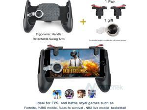 EC2WORLD 4 in 1 Phone PUBG Mobile Game Gamepad joystick with L1 R1 Trigger Shoot Fire Button Aim Key + Touch Pad Joystick Controller