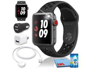 Apple Watch Nike+ Series 3 (Space Gray Aluminum) 38mm Charger Bundle