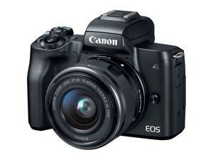 Canon EOS M50 Mirrorless Digital Camera with 15-45mm Lens + Flash + UV FLD CPL Filter Kit + Wide Angle & Telephoto Lens + Camera Case + Tripod + 128GB Memory Card - Intl Model
