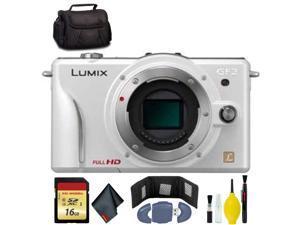 Panasonic Lumix DMC-GF2 Camera Body(W) - 16GB - Wallet - Reader - CASE + More