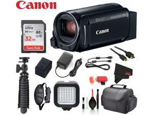 Canon VIXIA HF R800 Camcorder (Black) with  � SanDisk 32gb SD card + Deluxe Cleaning Kit + 12� Tripod + MORE