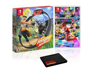 RingFit Adventure + Mario Kart 8 Deluxe - 2 Game Bundle - Nintendo Switch