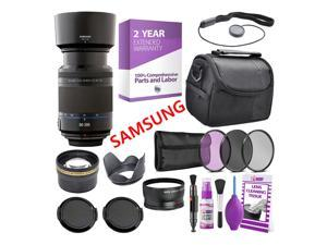 Samsung 50-200mm f/4.0-5.6 Telephoto Zoom Lens NX Mount (International) + Warranty + Case + Accessories Bundle