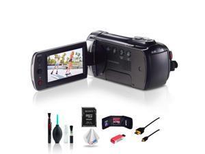 Samsung HMX-F90 Black Camcorder with Accessories Bundle