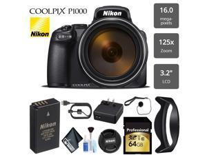 Nikon COOLPIX P1000 Digital Camera 16MP 125x Optical Zoom & Build in Wi-Fi + Lens Tissue Paper - (Intl Model)