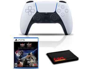 PlayStation 5 DualSense Wireless Controller (White) Bundle with The Nioh Collection
