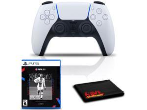 PlayStation 5 DualSense Wireless Controller (White) Bundle with FIFA 21 Next Level