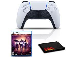 PlayStation 5 DualSense Wireless Controller (White) with Outriders Day One Edition