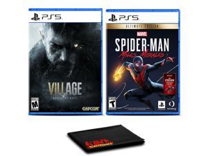 Resident Evil Village and SpiderMan Miles Morales - Two Games For PS5