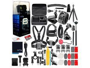 GoPro HERO8 Black Digital Action Camera - With 16GB Card 50 Piece Accessory Kit - All You need Bundle