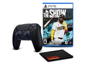 PS5 DualSense Wireless Controller (Midnight Black)  with MLB The Show 21
