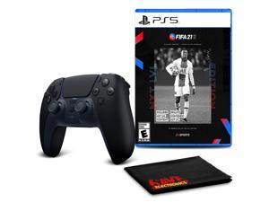 PS5 DualSense Wireless Controller (Midnight Black)  with FIFA 21 Next Level